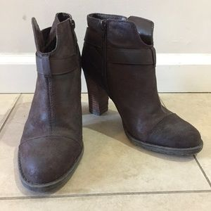 Dark Brown Women's Heeled Ankle Boots (Size 7.5)